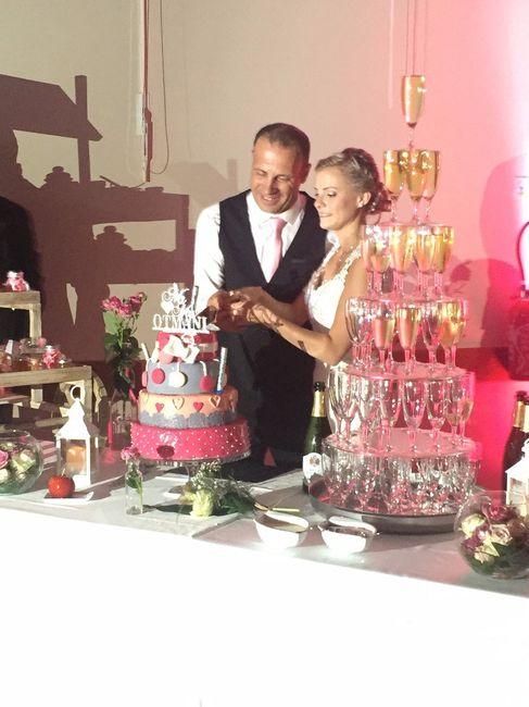 coupe du wedding cake