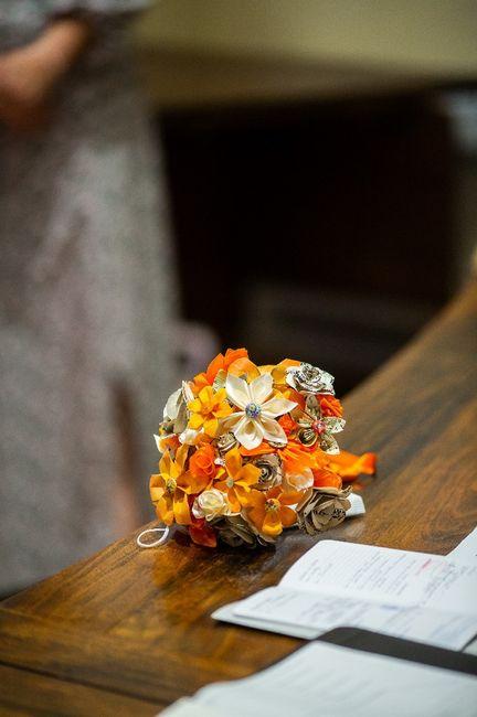 Bouquet de Mariée origami 2