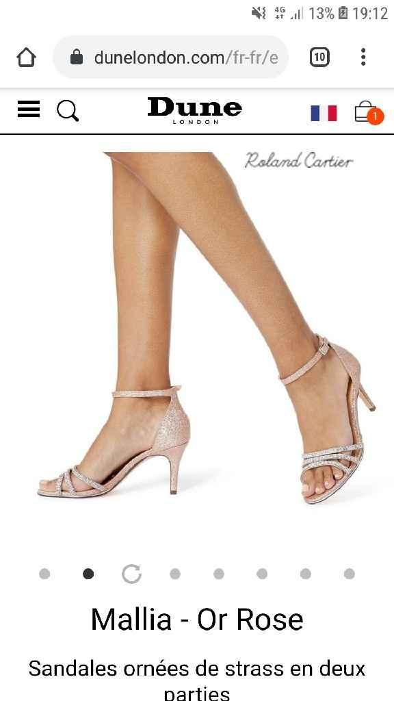 Chaussure blanche ou couleur ? - 1