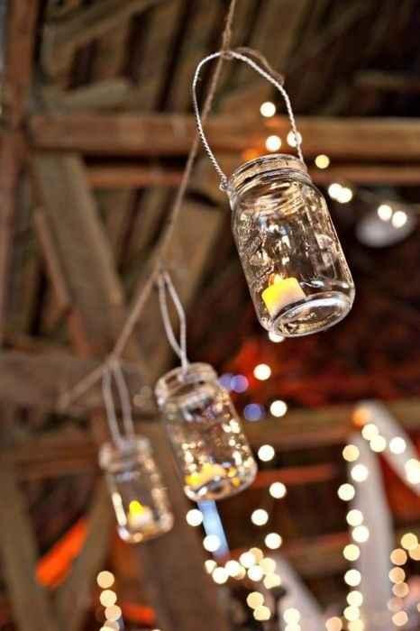 Lanternes mariage récup