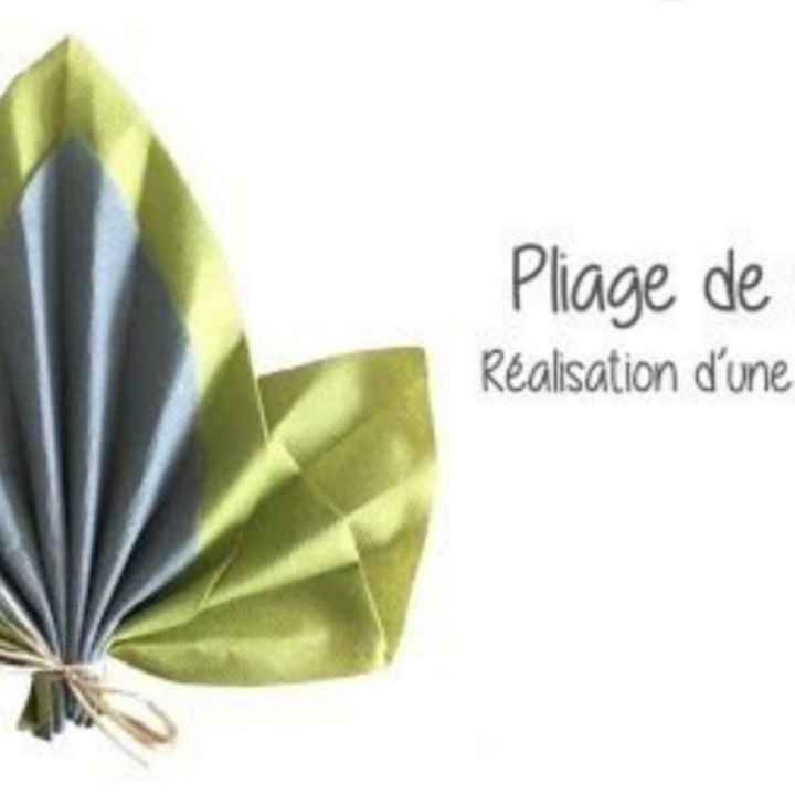 Pliage serviette - 4