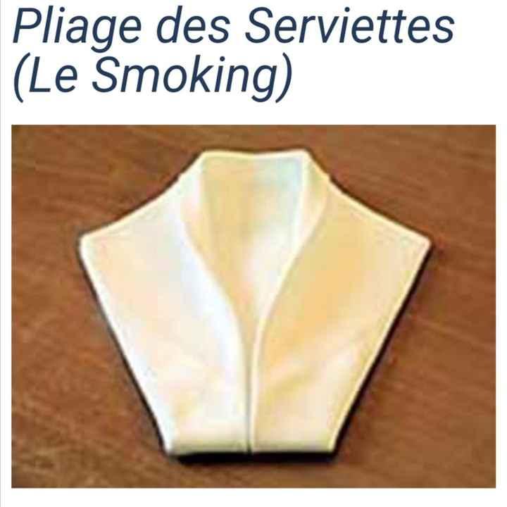 Pliage serviette - 1