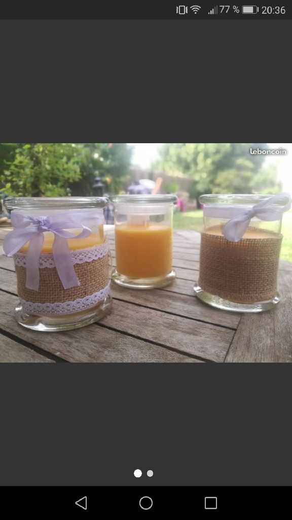 Bougies à personnaliser - 1