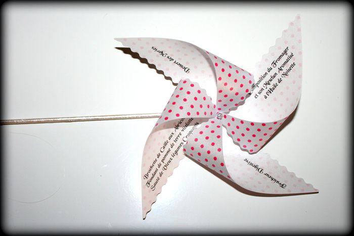 Tutoriel pour r aliser un menu en forme de moulin vent d coration forum - Faire un moulin a vent ...