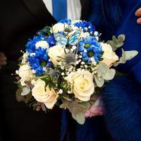 Bouquet mariée bleu et blanc