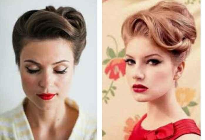 Thème année 50 j'ai une robe sirène à votre avis accessoire et quoi comme coiffure et bouquet - 1