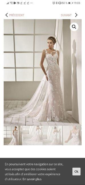 Robe de mariée achetée avant grossesse - 1
