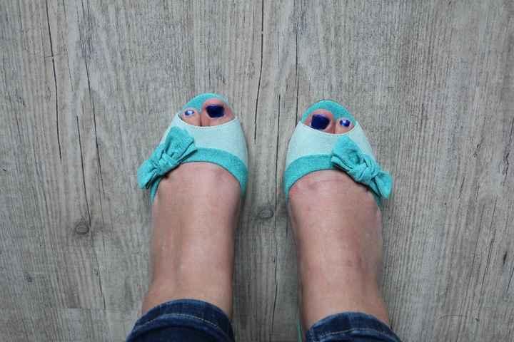 chaussure avant la customisation