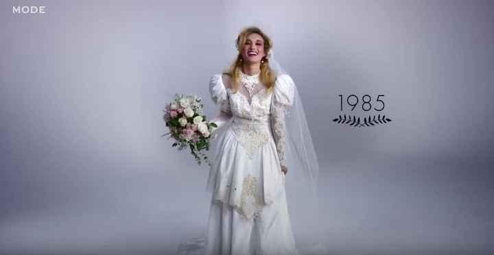 robe de mariée 1985