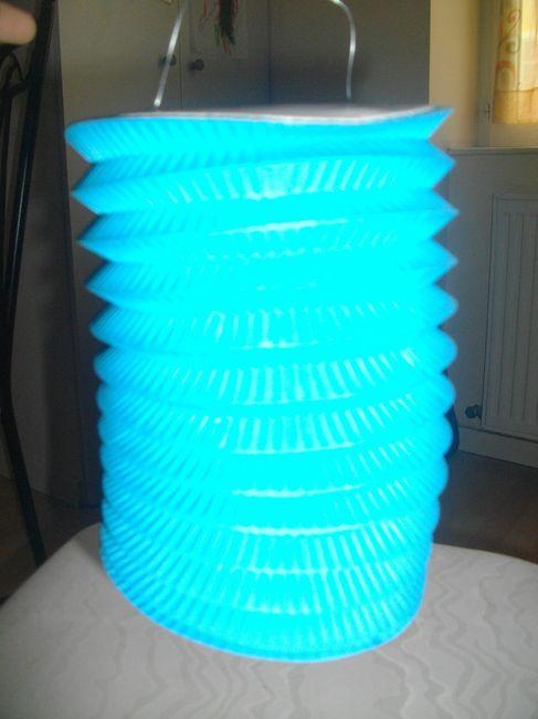 lampions bleu turquoise