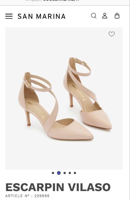 Chaussures mariée rose poudrée 11