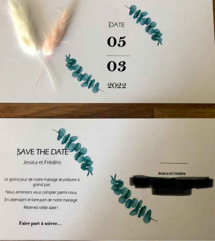 Notre Save The Date diy - 1
