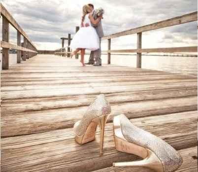 Photo de mariés glamour