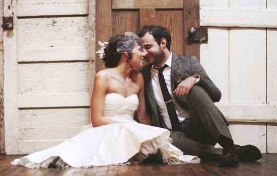 Photo de mariage simpke et romantique