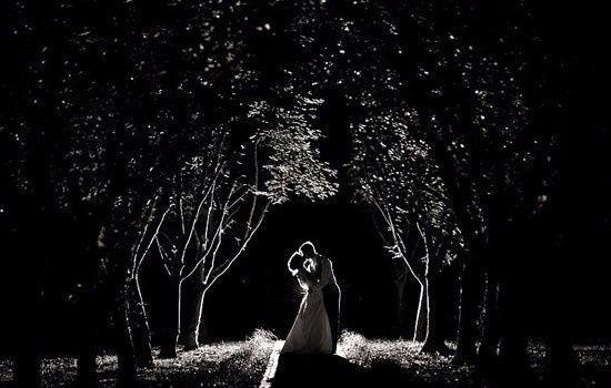 photo romantique noir&blanc