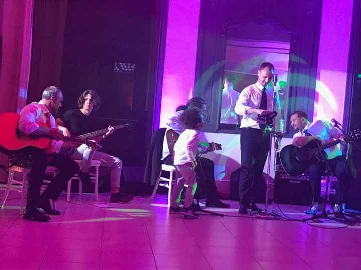 mini concert...mes loulous ont assuré