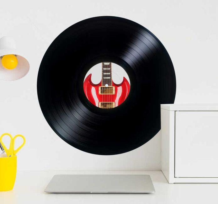 Arbre à empreinte sur sticker vinyle... - 1