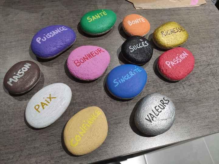 Rituel des pierres colorées (création) - 1