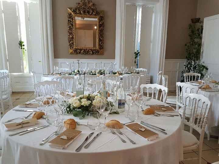 Nos tables - dressage Kemper Gastronomie et fleurs de chez Vert Anis