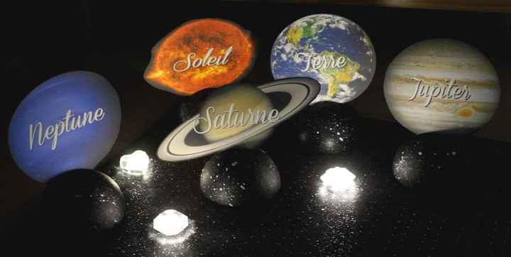 Planètes tables repas UNIVERS
