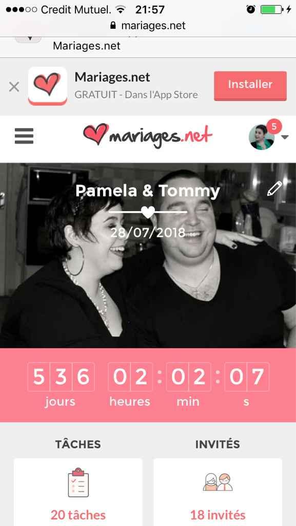 Combien de jours reste-t-il avant votre mariage ? - 1