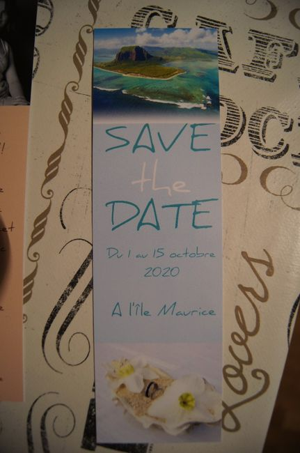 Nos Save the date enfin arrivés!!!! 3