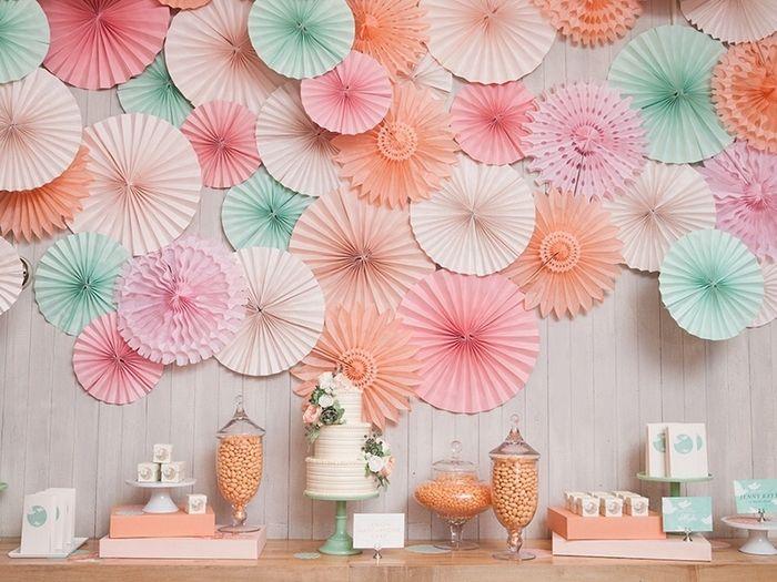 Mur de rosace papier comment fixer d coration forum - Decoration en papier ...