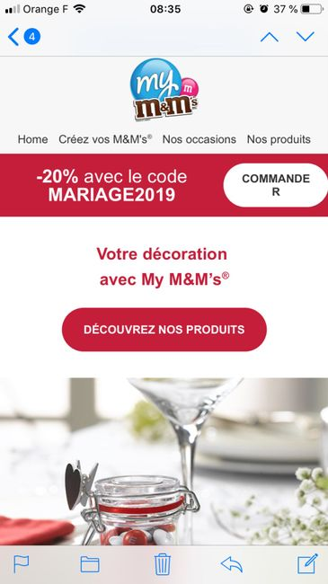 M&m's personnalisés: 20% de réduction! - 1