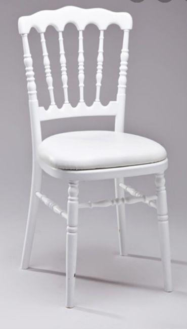 Choix couleur des fleurs et choix des chaises 1