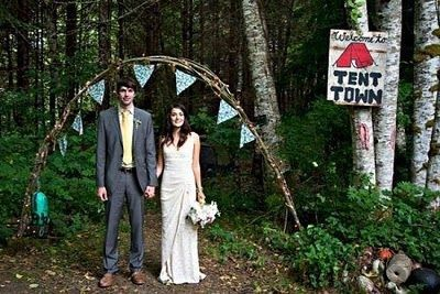mariée camping