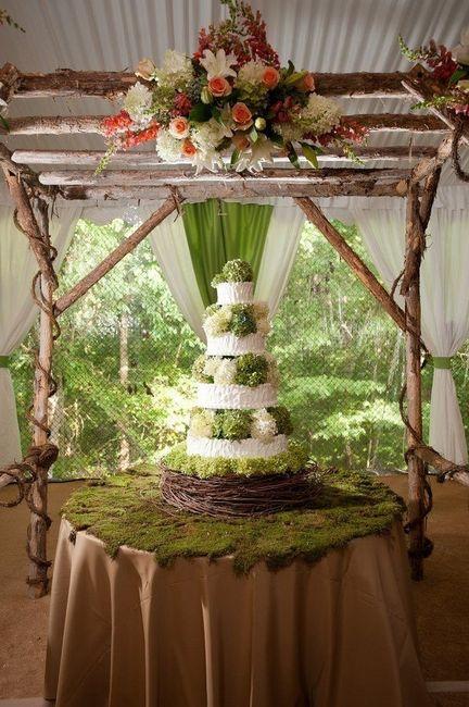 wedding cake champêtre nature