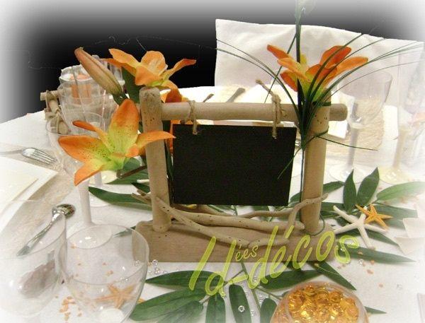 marque place thme exotique - Deco Table Exotique