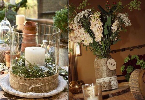 decoration table mariage montagne