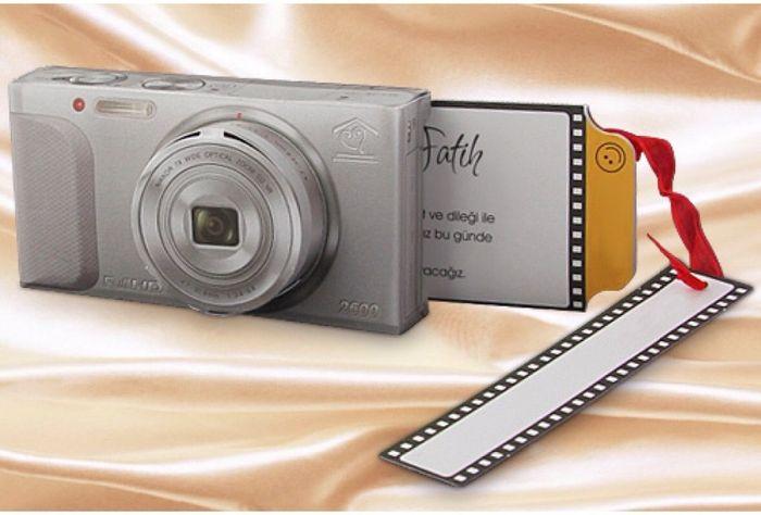 Faire part de mariage original appareil photo