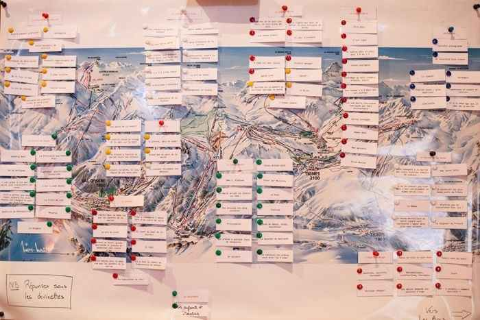 plan de table thème montagne