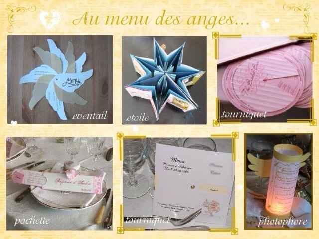 carte de menu thème étoiles