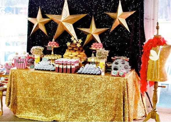 candy bar thème étoiles