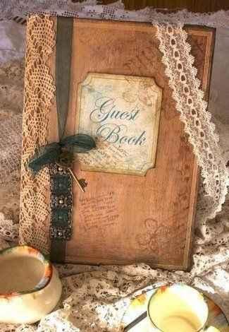 livre d'or vintage