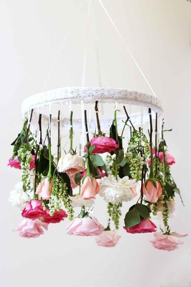 chandelier fleurie