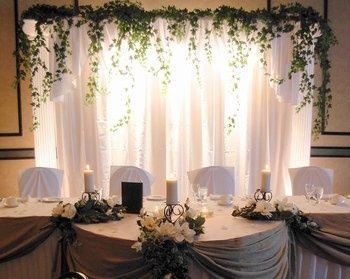 Deco table d honneur nature photo banquets - Decoration de mariage feerique ...