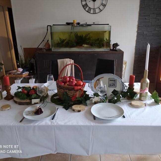 Essai table blanche neige - 1