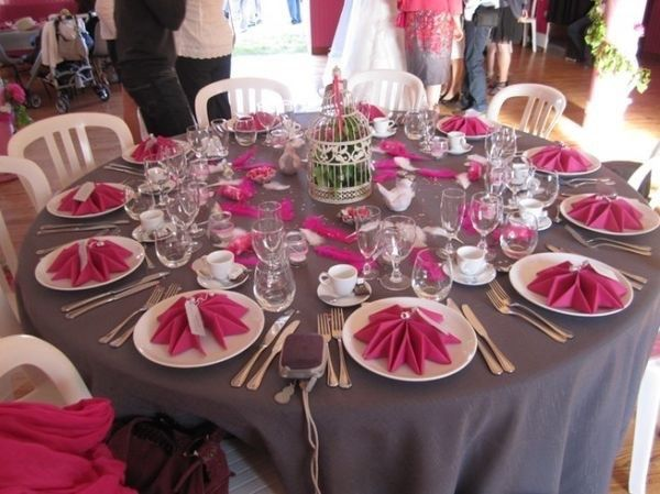 Idee Deco Rose Et Gris Decoration Forum Mariages Net