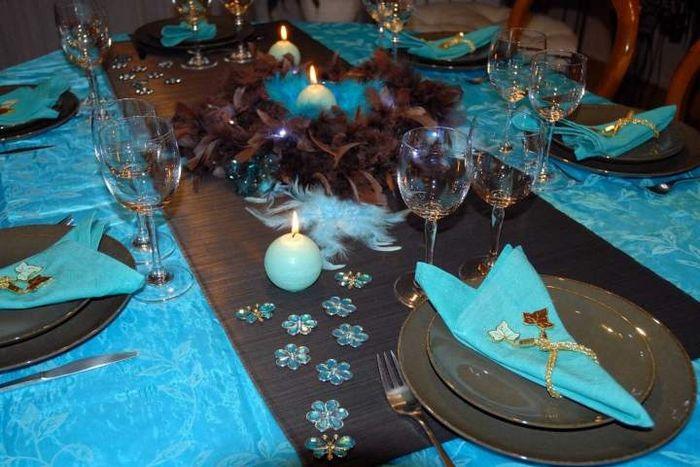 Deco Table Couleur Bleu Turquoise Et Noir : Deco du mariage couleur chocolat et turquoise page