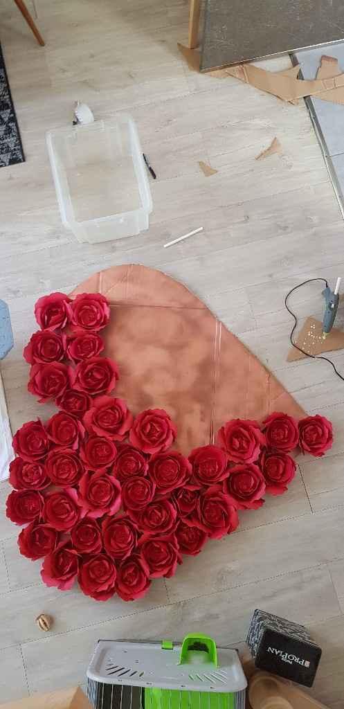 Suite et fin de mes roses en papiers - 2