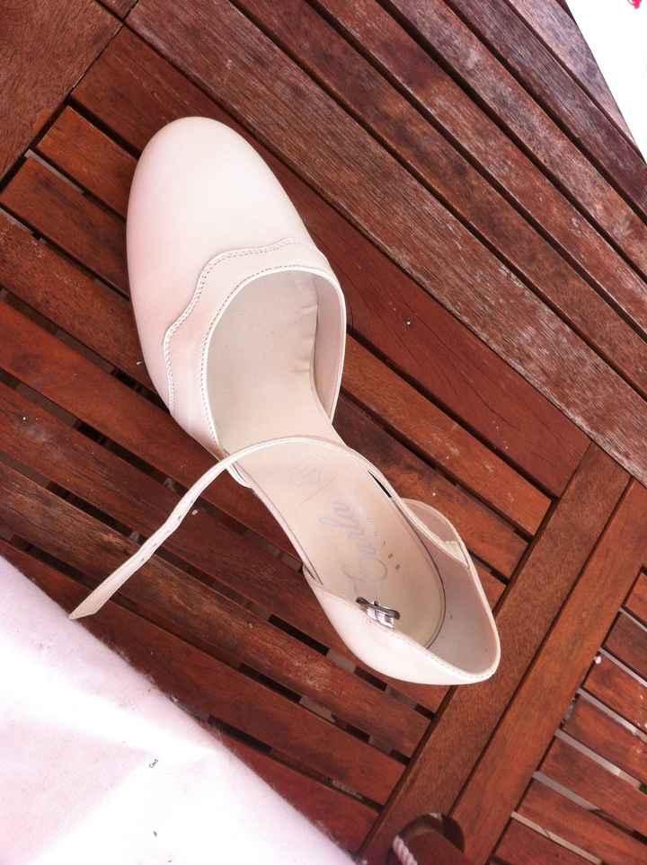 Chaussures avant teintures