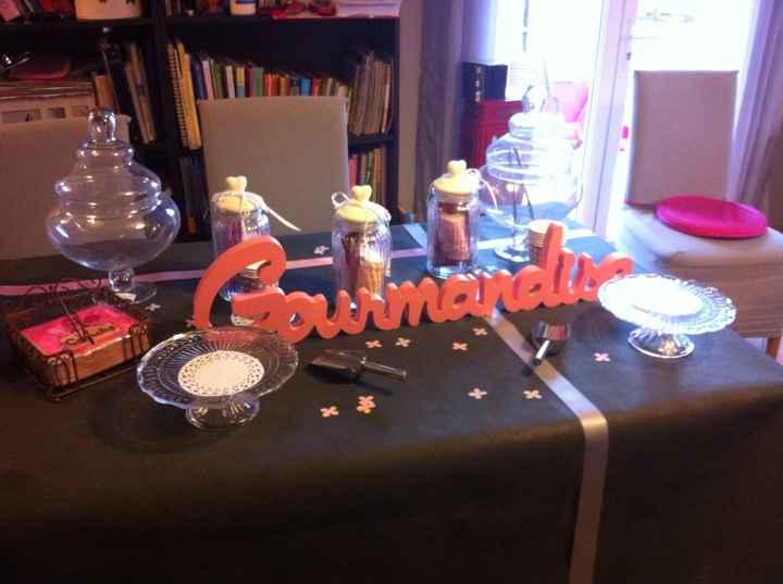 Essai table candy bar