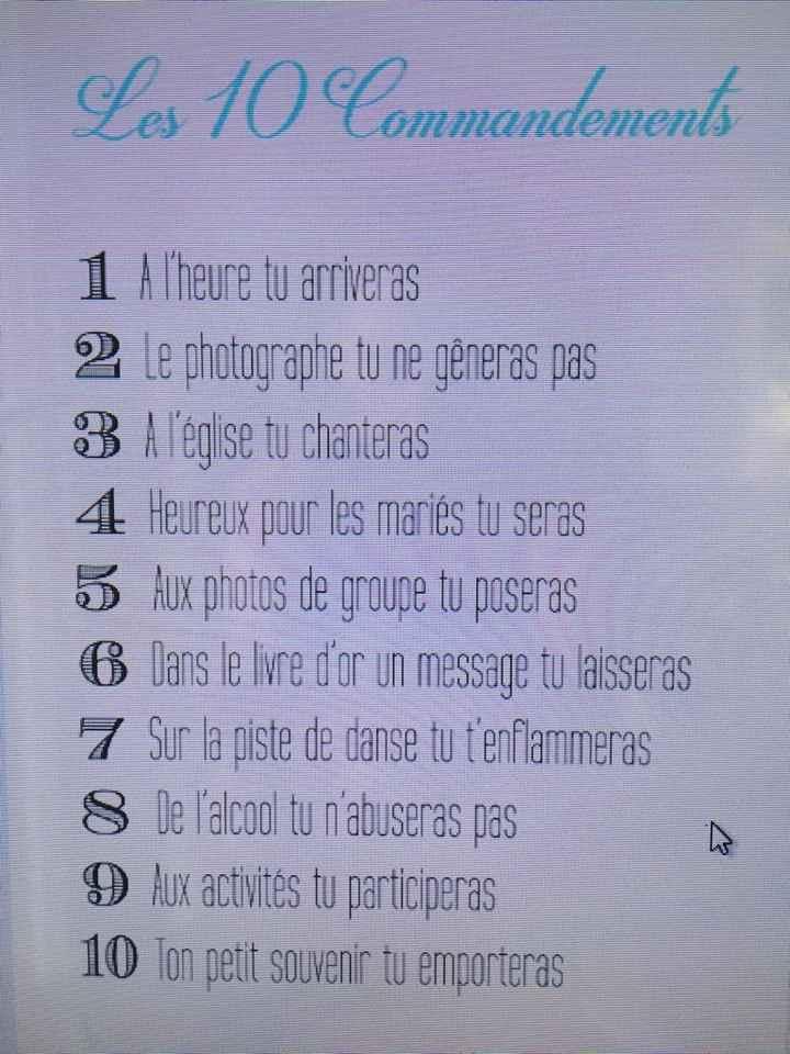Mes 10 commandements - 2