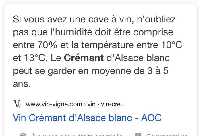 Conservation champagne/crémant 2