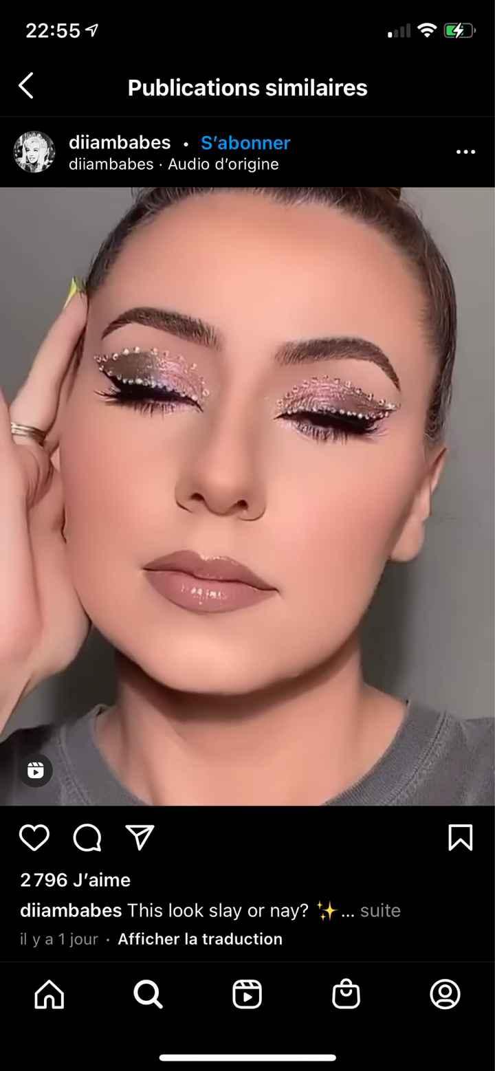Inspi make up du jour j - 1