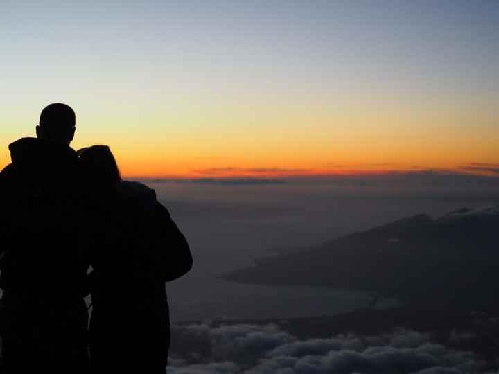 Maui - Coucher de soleil au sommet du Haleakala